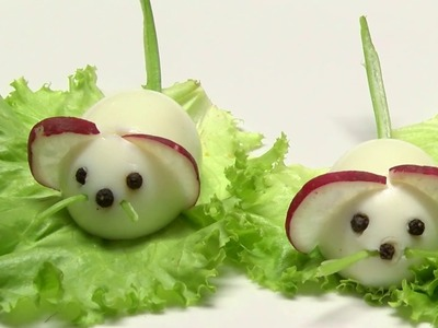 How to Make Mice with Eggs to Decorate Salads- HogarTv By Juan Gonzalo Angel