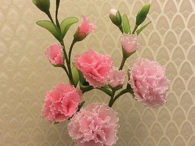 How to make nylon stocking flowers - Carnation