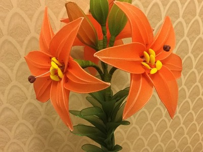 How to make nylon stocking flowers - Lily