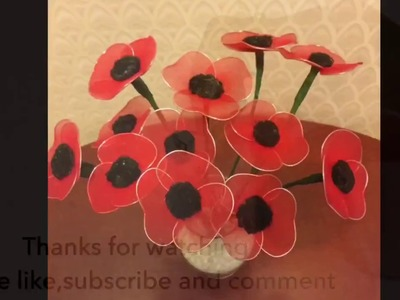 How to make nylon stocking flowers - Poppy