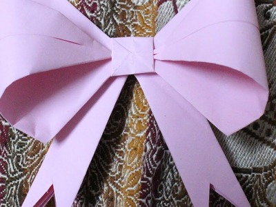 How to make origami paper bows for decorations