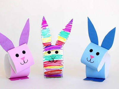 How to make Paper Bunny Puppets for Easter (Stop Motion)