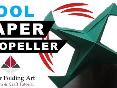 How to Make Paper Propeller-Origami Propeller-How to Make Paper Windmill Propeller-Paper Folding Art