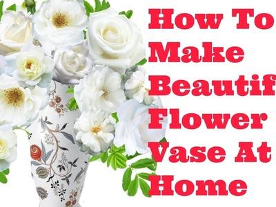 How To Make Paper Vase - 3D Origami Flower Vase Step By Step - DIY Flower Vase Crafts