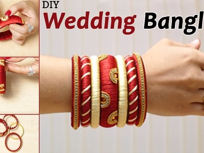 How to make silk thread wedding Bangles at home | Latest bangles making video | Jewellery|Party wear