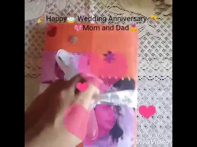 How to make simple ,easy Wedding Anniversary card for your parents!
