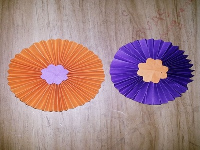 How to make simple Paper ROSETTES FLOWERS