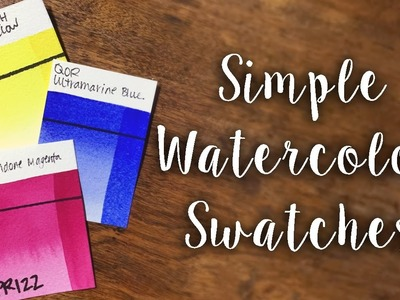 How to Make Simple Watercolor Swatch Cards