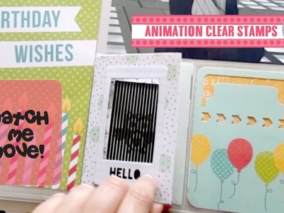 How to make your own small Animation Card. Animation Die Cut by Uchis Design DC102
