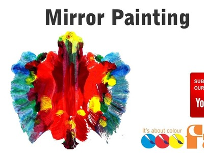 How to Paint Folded Paper Mirror Butterfly Paintings for Preschool and Primary Schools - FAS Paints