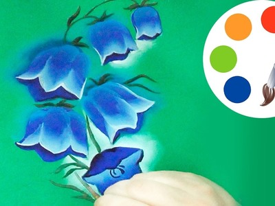 How to paint The Bellflower, paint a flower, irishkalia