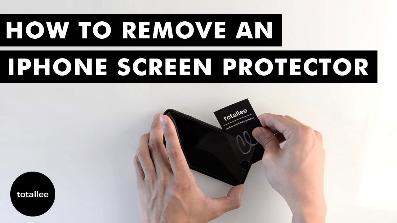 How to Remove an iPhone Screen Protector