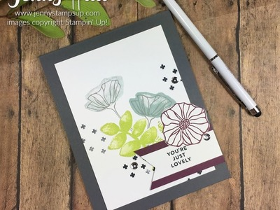 How to use Oh So Eclectic layering stamps from Stampin Up with Jenny Hall