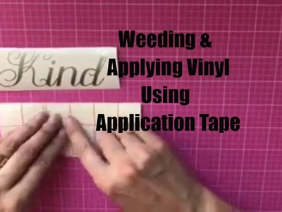 How to Weed and Apply Vinyl Using Transfer Tape - Decals Made With Cricut Explore or Silhouette