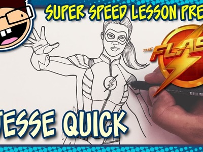 Lesson Preview: How to Draw JESSE QUICK (The Flash) | Super Speed Time Lapse Art