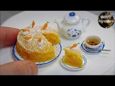 Mini food #123 『Carrot Cake 人参のケーキ』How to make Miniature food (edible) Tiny food ASMR ミニチュア料理