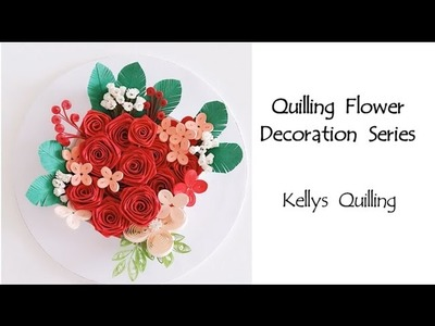 Paper Quilling Flower Decoration Learning Video 4. Paper Quilling Art. Paper Flower