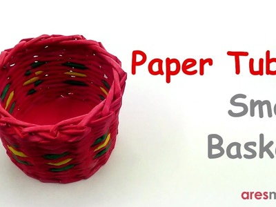 Paper Tubes Weaving Small Basket (intermediate - paper tubes)