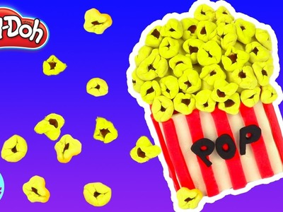 Play Doh Popcorn Maker How to Make Play Doh Popcorn Rainbow Learning Diy Castle Toys