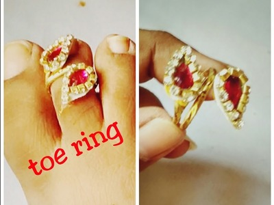 Pretty Toe ring - How to make toe ring | jewellery tutorials