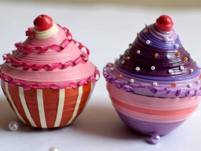 Quilled Cupcake. Paper Cupcakes. Paper Cupcake box