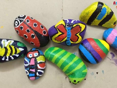 Rock painting for kids | Stone painting for kids | How to paint stone | Art for kids