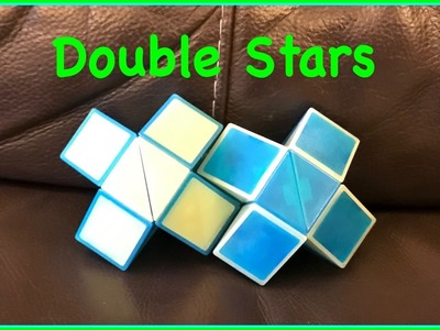 Rubik's Twist or Smiggle Snake Puzzle Tutorial: How to Make a Double Stars Shape