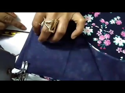 Simple blouse stitching with lining   sewing of simple blouse with belt   How to sew a blouse