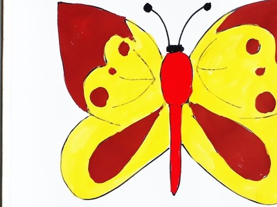 Simple Example How to Draw Butterfly,the most beautiful butterflies for kids