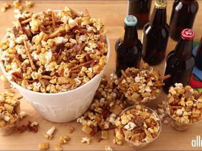 Snack Recipes - How to Make DBs Caramel Popcorn Bacon Mix