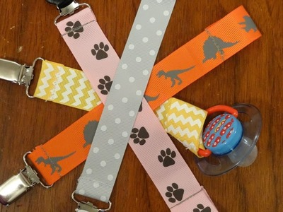 Super easy - how to make - pacifier clips
