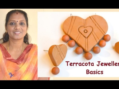 Terracotta Jewelry Basics: How to make design, use connectors, how to bake.