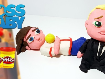 THE BOSS BABY Boss Baby and Tim Play Doh Figures | How to Make The Boss Baby Characters tutorial