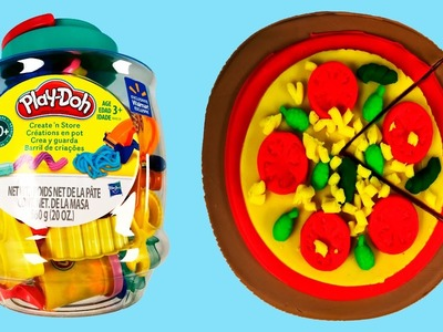 Unboxing Creations Playset & Make Play Doh Pizza Kindy Fun Toys Collector