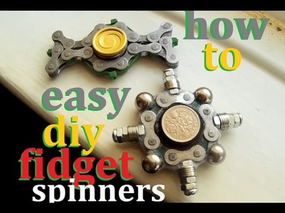 Very easy Diy fidget spinners How i made them