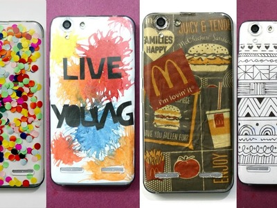 4 DIY MOBILE PHONE COVERS | CELL PHONE CASES | SUPER EASY