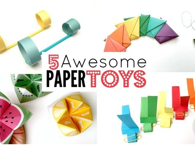 5 Paper Toy DIYs - 5 Minute Crafts - Things to Do When Bored