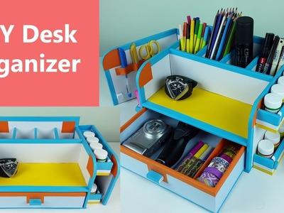 A stylish and compact DIY desk organizer. drawer organizer out of cardboard.
