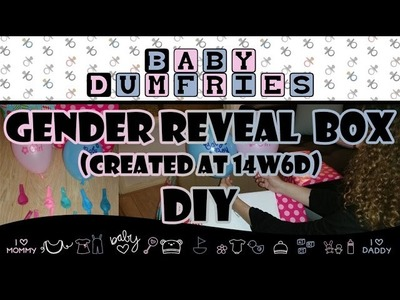 Baby Gender Reveal Box (Created at 14w6d) DIY ♡ BabyDumfries | Watch in HD 1080p