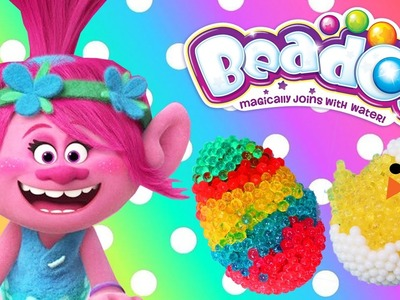 Beados DIY Easter Eggs + Trolls Movie Poppy Easter Basket Surprise Toys Colors Crafts for Kids
