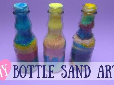 Bottle Sand Art - DIY Colorful Sand Art Made With Salt