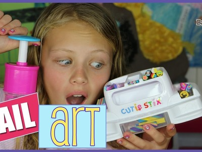 Cool DIY Nail Art with Cutie Stix Toy Unboxing | Tween & Teen Crafts