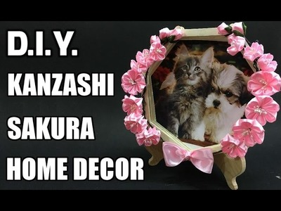 D.I.Y. Kanzashi Home Decor| Popsicle Stick Photo Frame | MyInDulzens
