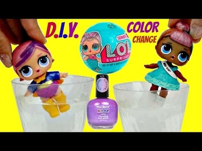 D.I.Y. LOL Surprise Dolls Color Changer (Also Spits, Pees, Cries) Mood Changing Nail Polish TUYC