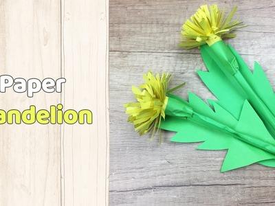 Dandelion paper flower   Simple DIY to make for everyone