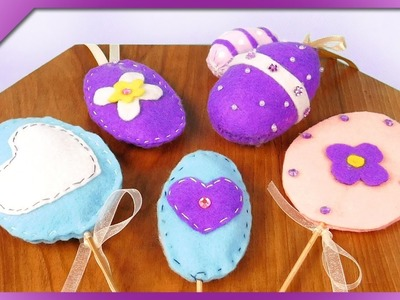 DIY 3 ideas for felt Easter eggs (ENG Subtitles) - Speed up #338