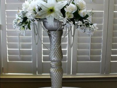 DIY Dollar Tree Chandelier wedding centerpiece Lights Up!   DIY Wedding centerpiece or home decor