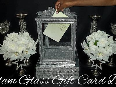 《DIY》Dollar Tree Glam Glass Wedding Gift Card Box