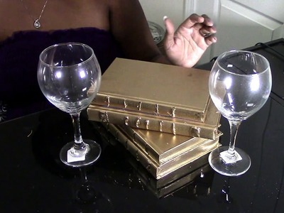 DIY: Dollar Tree ZGallerie Inspired Gold Book, Bookends