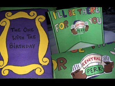 DIY F.R.I.E.N.D.S tv show THEMED BIRTHDAY CARD
